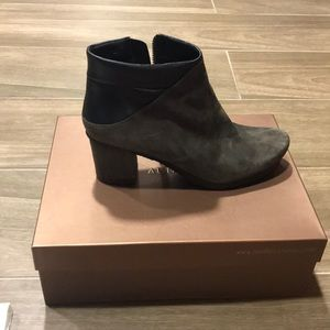 Shoes - Audley London Suede Boots with Leather Trim